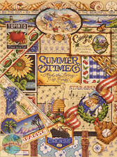 Cross Stitch Kit ~ Janlynn Colorful Summer Time Living Sampler #023-0347