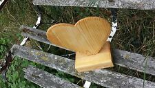 Solid Wooden Heart Ornament Shabby Chic Vintage - Victorian pine