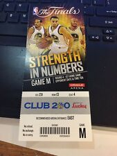 2015 GOLDEN STATE WARRIORS VS CLEVELAND CAVALIERS GAME #1 TICKET STUB NBA FINALS