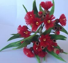 sugar AUSTRALIAN GUM EUCALYPTUS FLOWERS & LEAVES SPRAY cake topper decoration