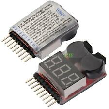 NEW RC Lipo Battery Low Voltage Alarm 1S-8S Buzzer Indicator Checker Tester LED