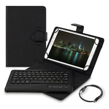 "CHIC borsa per 7-8"" TABLET TASTIERA BLUETOOTH KEYBOARD PROTEZIONE ECOPELLE"