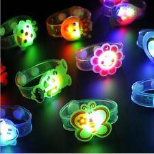2pcs New Bracelet Adjustable Wrist Watch Toy Flash Light Led Kids Supplies Gift