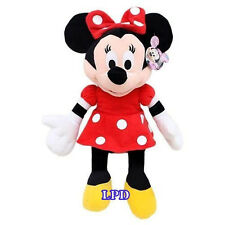 """MINNIE MOUSE PLUSH MICKEY CLUBHOUSE DISNEY 16"""" RED DRESS Doll New Stuffed Toy"""