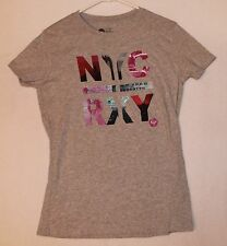 Roxy Cap Sleeve T-shirt Women's Size L Color Gray NYC