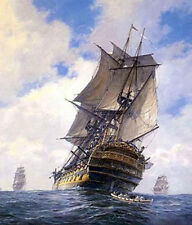 """Beautiful oil painting seascape big sail boats on ocean handpainted canvas 36"""""""