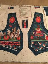 Fabric, Halloween Vest Panel cut out and ready to sew!  New! Makes S,M,L or ,XL
