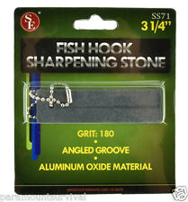 "Fishing Hook Sharpening Stone with Angled Groove 3 1/4"" NEW Camping"