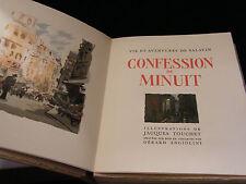 Confession de Minuit Georges Duhamel 1949 Touchet Angiolini Numéroté