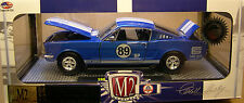 M2 MACHINES 1:24 SCALE DIECAST METAL BLUE 1965 SHELBY GT350 MUSTANG