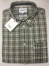 Norse Projects Plaid Button Up Anton Cotton Linen Check SZ L