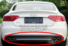 S Style High Quality PU Diffuser Quad Exhaust Audi A5 4D Non-Sline Bumper A037F