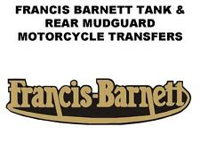 Francis Barnett Tank and Rear Number Plate Decal Transfer BSA