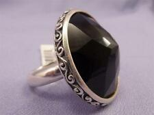 Brighton Sterling Silver Black Onyx DUOMO Ring Size 9