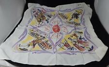 Vintage 1953 British Royal Queen Elizabeth II Coronation Silk Scarf Souvenir