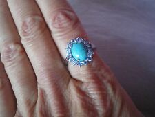 Cochise Turquoise ring, size N/O, 3.38 carats, in 2.87 grams of 925 Sterling Sil