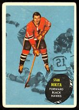 1961-62 TOPPS HOCKEY 36 STAN MIKITA VG-EX CHICAGO BLACK HAWKS CARD FREE SHIP USA