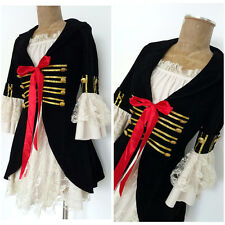 Pirate Costume Dress Size Medium Lace Womens Reenactment Acting Military