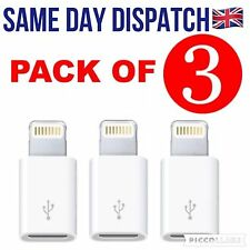 3x LIGHTNING TO MICRO USB ADAPTERS Compatible with iPhone 6 5 iPad Air mini