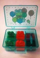 RARE Vintage 1991 Sanrio Keroppi Mini Stamp Box Case Set Hello Kitty Friend Frog