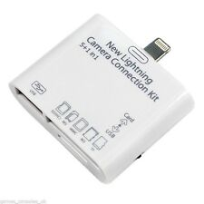 New 5 in1 Lightning to USB SD MicroSD Camera Combo Adapter F iPad 4 Mini Air 2