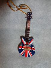 "ELECTRIC GUITAR BRITISH FLAG INSTRUMENT ORNAMENT 4"" G48S"