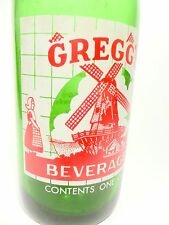vintage  ACL Soda POP Bottle: green GREGG'S of BROWNSVILLE, PA - 32 oz ACL