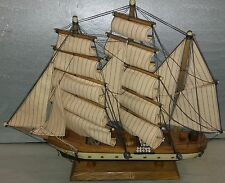"""7DD51 MODEL SHIP: GORCH FOCK, 19-1/2"""" OVERALL LENGTH, DUSTY FROM DISPLAY, GC"""