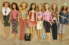 LOT OF FASHION FEVER BARBIE DOLLS KAYLA LEA ALL WITH CLOTHES MATTEL