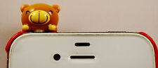 CHOCO TEDDY LIGHT BROWN CUTE TEDDY PHONE JACK PLUG/ DUST COVER/PROTECTOR