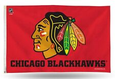 Chicago Blackhawks Authentic 3x5 Indoor/Outdoor Flag Banner FREE US SHIPPING
