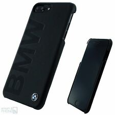 "BMW Echtleder iPhone 7 Plus 5,5"" Hard Case Back Cover Handy Schutzhülle Tasche"