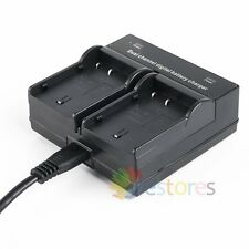 Dual Slot Battery Charger For Panasonic DMW-BLF19 DMW-BLF19E BLF19 BLF19E
