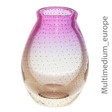 WMF Perlora Glas Vase Walter Dexel Entwurf weiß pink Luftblasen Design glass 50s