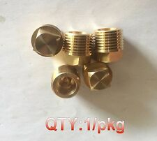 "1/2"" NPT NPTF Pipe Thread Square Head Plug Brass  N-J47"