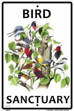 Bird Sanctuary Sign NEW 10 x 15 Kingfisher Flicker Thrush Warbler Vireo  Towhee