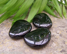 Large Black Obsidian Crystal Thumbstone - Reiki Charged, Protection, Tumblestone
