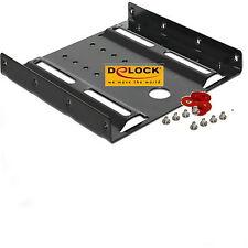 """DELOCK 18205 Einbau Rahmen Einbaurahmen 3,5"""" 2,5 Zoll Festplatte SSD Halterung ♥"""