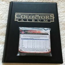 2016 Chicago Cubs Topps World Series Champions Limited Edition 25-Card Set Album