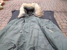 N-3B  1964 USAF Flying Jacket Cold Weather Parka Vintage N3B SIZE Medium?