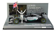Minichamps Mercedes w05 Abu Dhabi Gp 2014-Lewis Hamilton World Champion 1/43
