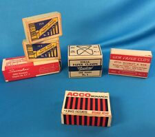 LOT of vintage office supplies Noesting, Ideal, paper clips, Swingline Staples