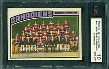 1976 77 OPC #141 MONTREAL CANADIENS TEAM CHECKLIST KSA 10 GEM MINT