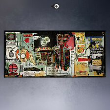 Jean Michel Basquiat - notary - street art canvas print wall picture 55x28""