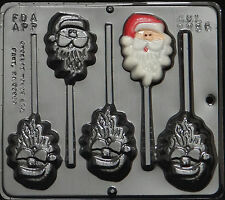 Santa Claus Face Lollipop Chocolate Candy Mold Christmas 2086 NEW