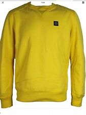 Duck and Cover Maddox Pull Over Jumper  Sweatshirt - Yellow - Large