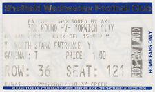 Football Ticket SHEFFIELD WEDNESDAY v NORWICH CITY Jan 2001 FAC
