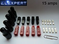 10 tapones de 15AMP con ANDERSON POWERPOLE X Goma SLEEVES _ GOLF TROLLEY _ Kit Car _ rc