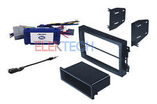 Radio Replacement Interface & Double DIN Dash Mount Kit for Dodge Chrysler Jeep