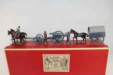 CBG MIGNOT Confederate Civil War Supply Wagon with Cannon & Caisson In Box ACW